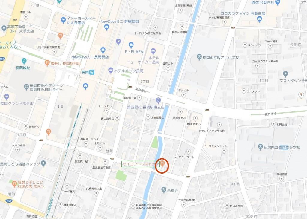 本場ベトナム調理 サイゴン地図