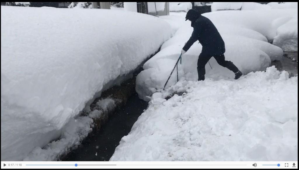 魚沼市坂戸の香取中古住宅冬季点検-スノーダンプ