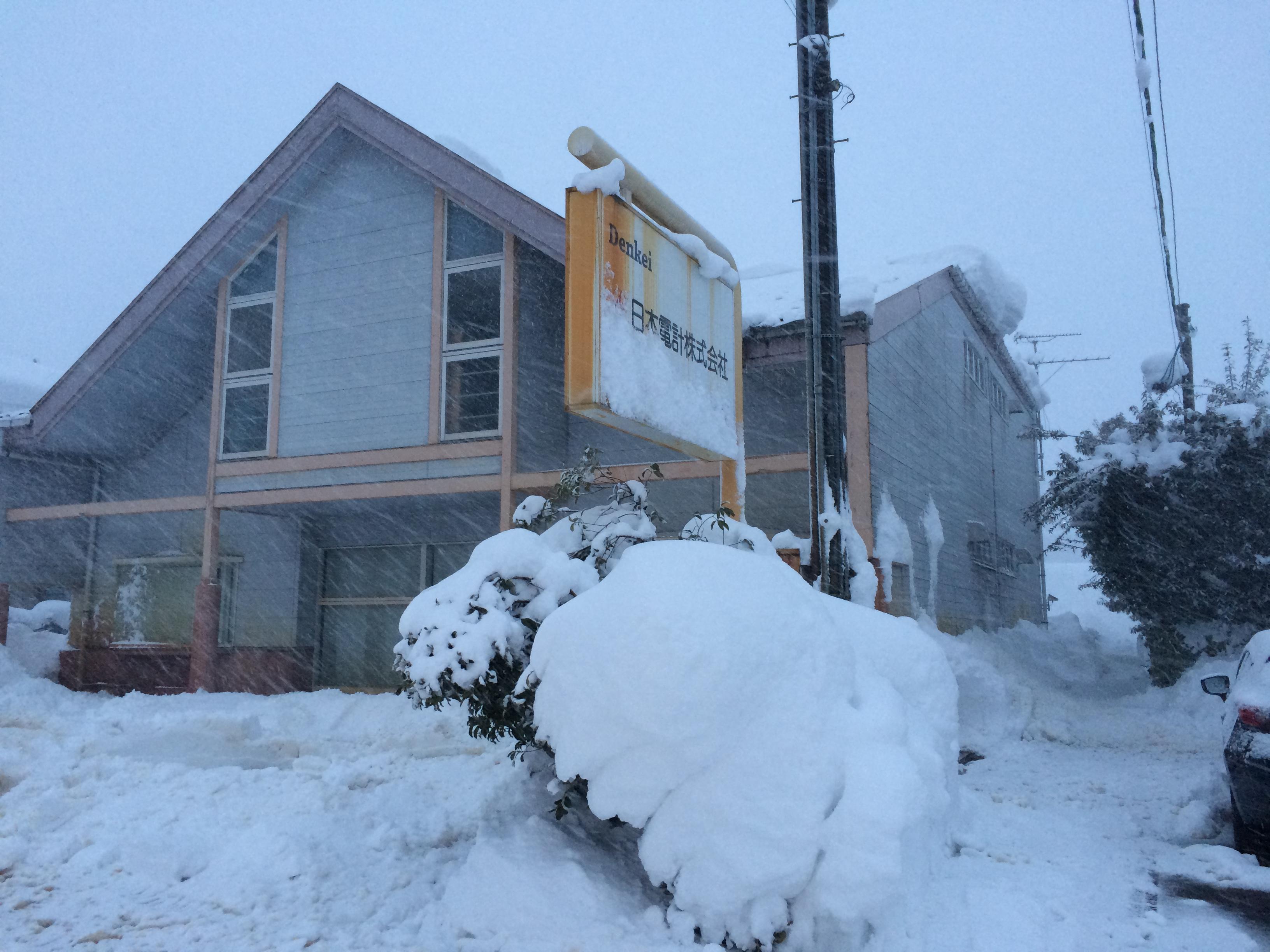 豪雪の片付け完了。長岡市美沢4丁目。07