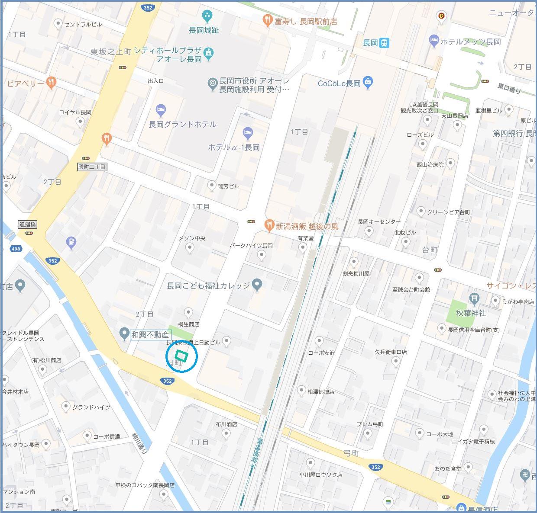 GoogeMapにリンクしています。